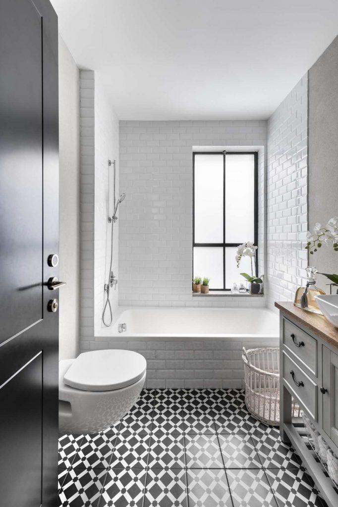 עיצוב פנים אקלקטי - רצפת אמבטיה