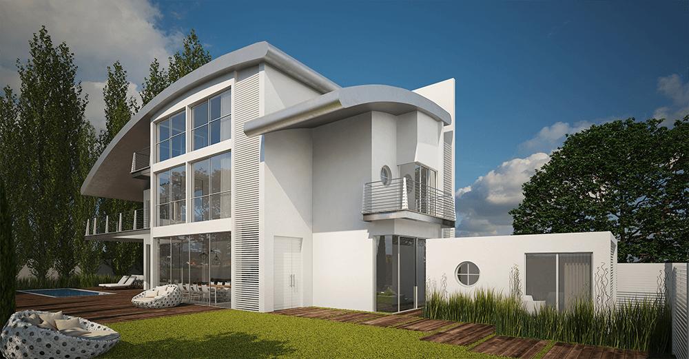 עיצוב פנים ואדריכלות בתים יפים בישראל וילה בהרצליה